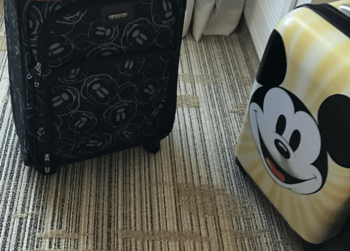 Discounted Disney luggage suitcase American Tourister sale