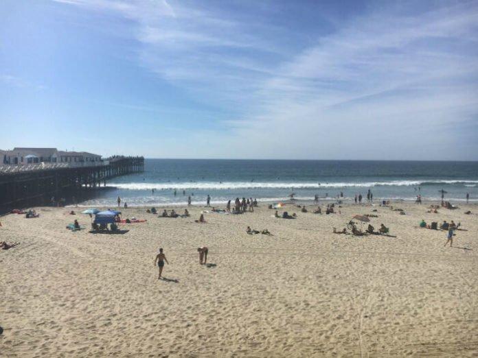 San Diego Beach with Sand and Ocean