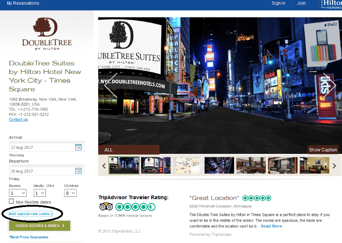 Doubletree Suites Times Square discount price