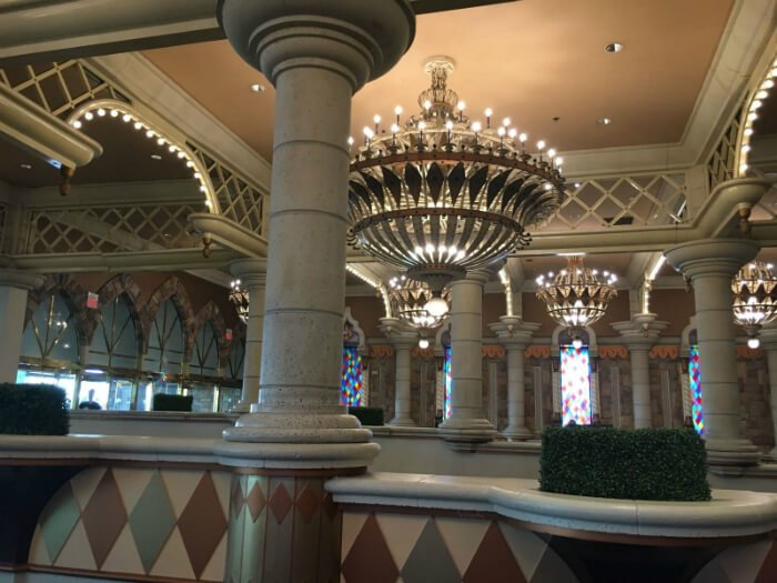Located towards the south end of The Strip, Excalibur can be found on the corner of Las Vegas Blvd. and Tropicana Ave. This Medieval themed Castle and kid-friendly hotel offers 2, newly remodeled Widescreen Rooms (featuring 42