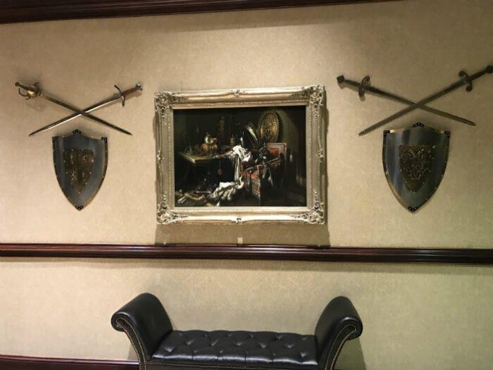 Grandover Resort Theming Painting Shields Swords