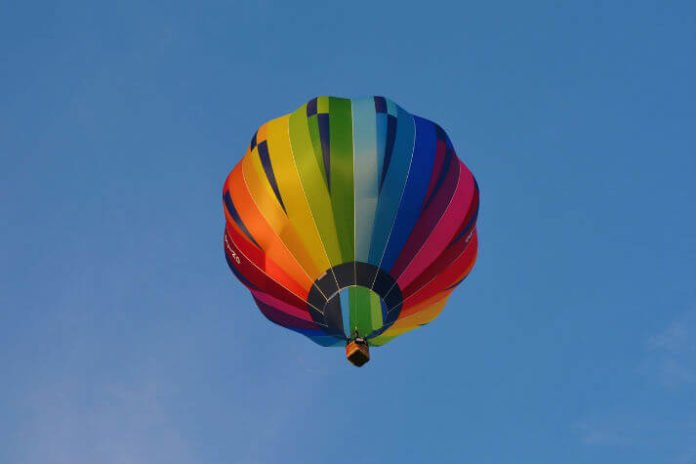 Save money on hot air balloon ride over Del Mar Southern California oceans & mountains