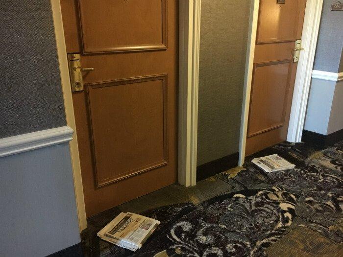 newspapers hallway Grandover Resort Greensboro