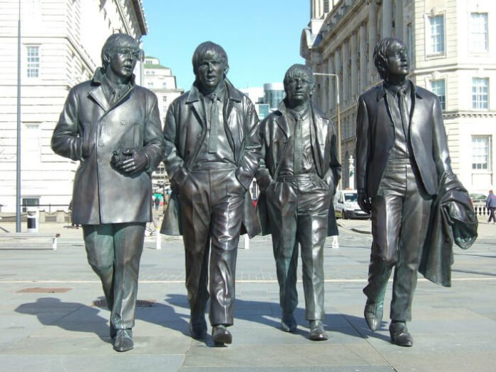 Discounted price for Beatles walking tour statue Liverpool England