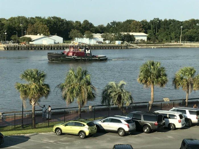 Homewood Suites river boat view Savannah Georgia