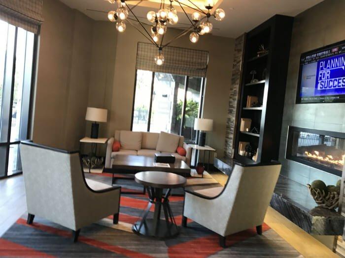 Homewood Suites hotel lobby Savannah Georgia