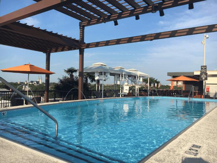savannah pool hotel roof homewood suites
