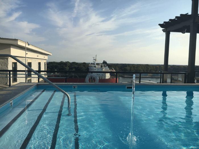 rooftop pool hotel savannah homewood suites