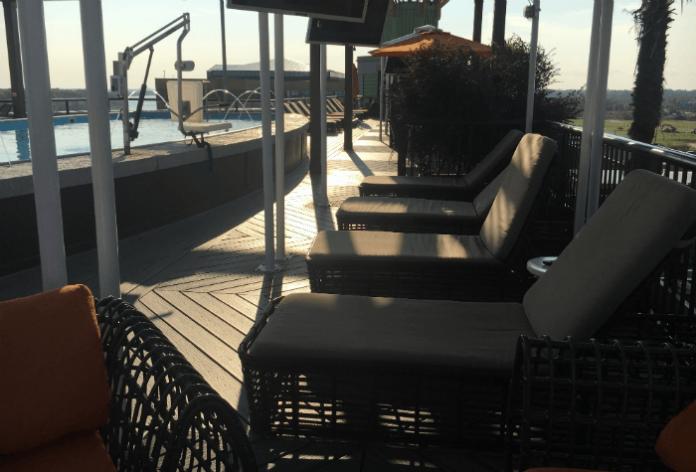 cabana rooftop pool savannah hotel homewood suites