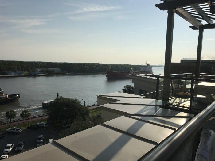 homewood suites savannah rooftop view