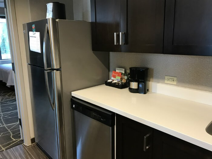 Homewood Suites Hotel kitchen