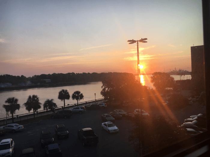 river sunrise Homewood Suites Savannah