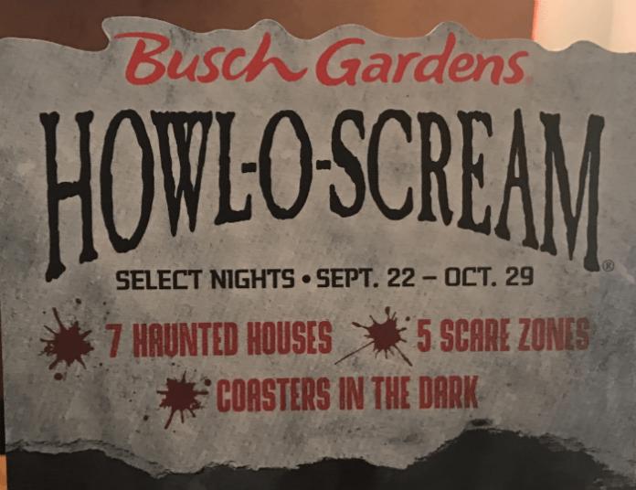 Howl-o-Scream Busch Gardens Tampa Bay Florida discounted tickets