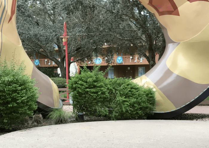 giant boots at Disney's All Star Music Resort