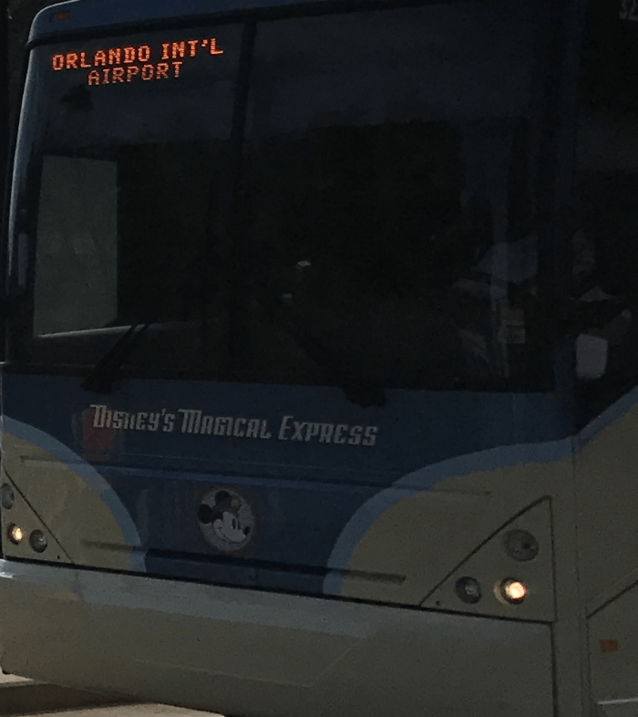 Disney's Magical Express bus to Orlando International Airport