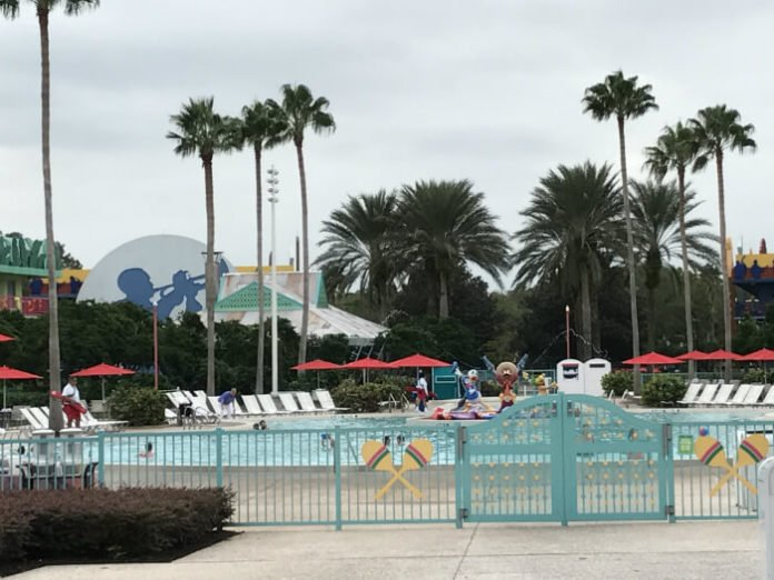 pool at All Star Music Resort Disney hotel