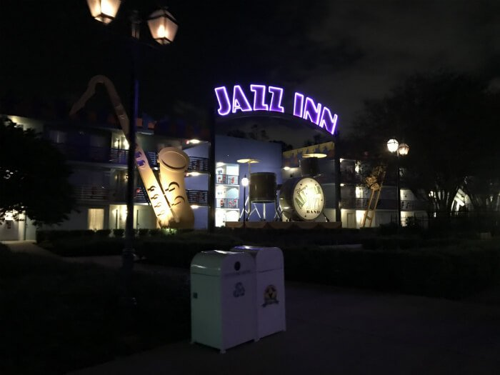 Jazz Inn section at Disney's All Star Music Resort