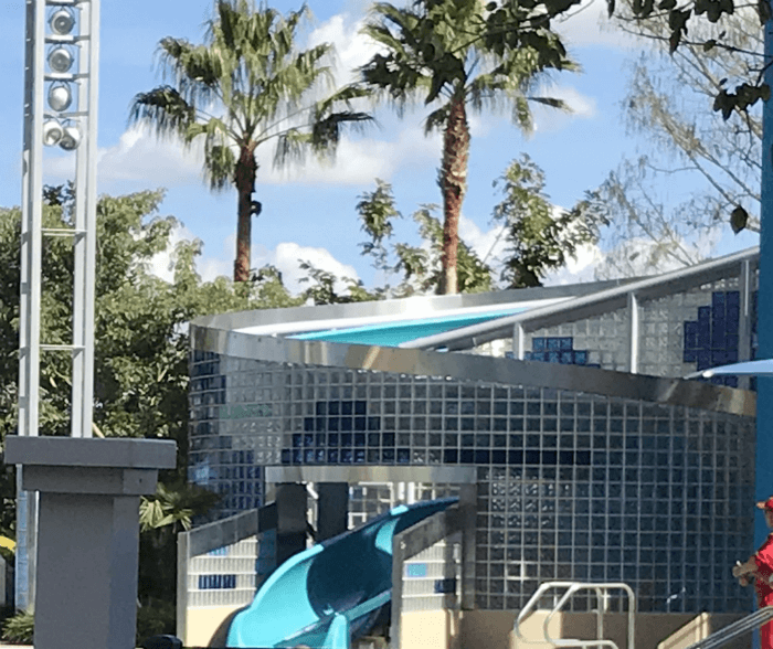 Bay Lake Tower pool's waterslide