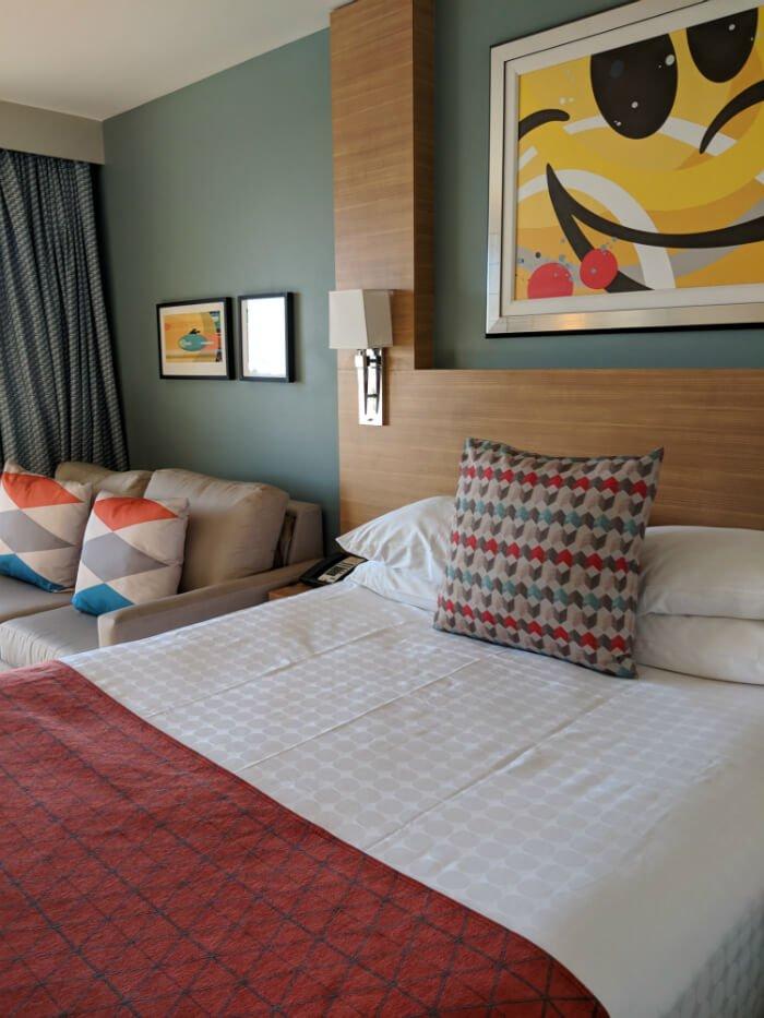 Bay Lake Tower villa bed and sofa