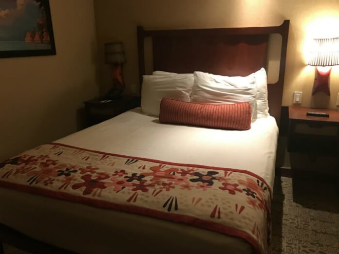 bed in Polynesian Village Resort villa