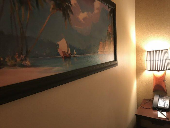 painting in Disney's Polynesian Village Resort hotel room