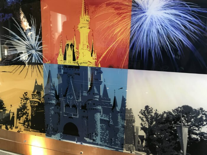 Disney World artwork inside Bay Lake Tower