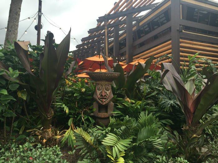 tiki statue at Polynesian Village Resort