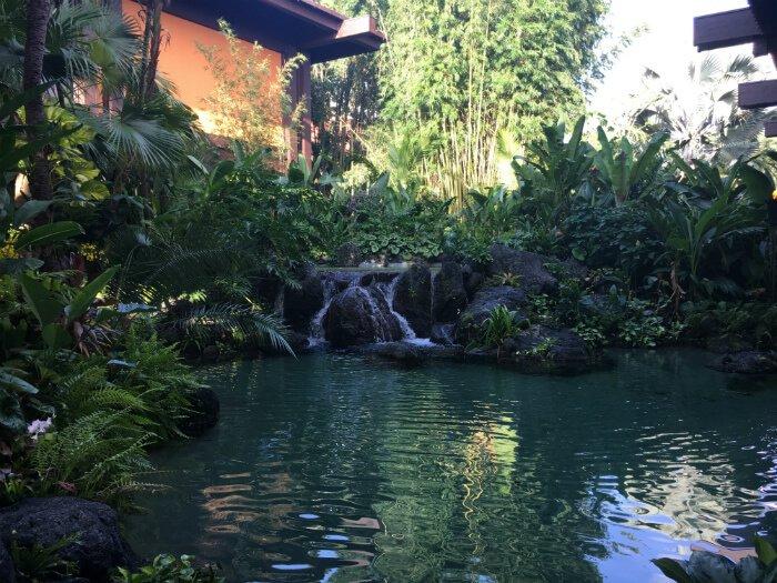 Themed Water Scene Outside Disney's Polynesian Village Resort