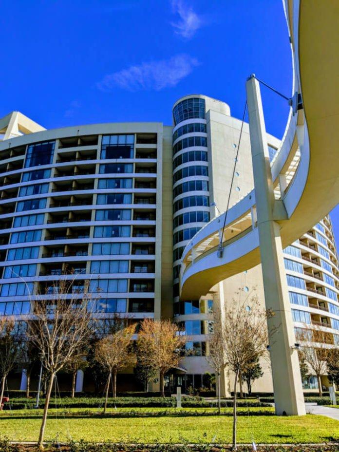 Disney's Bay Lake Tower and walkway to Contemporary Resort