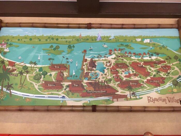 map of Disney's Polynesian Village Resort