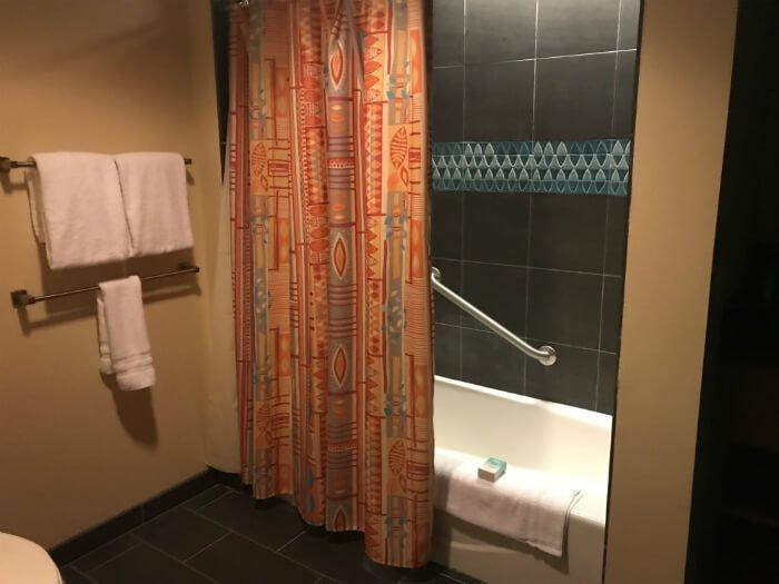 shower in bathroom in Polynesian Village Resort villa