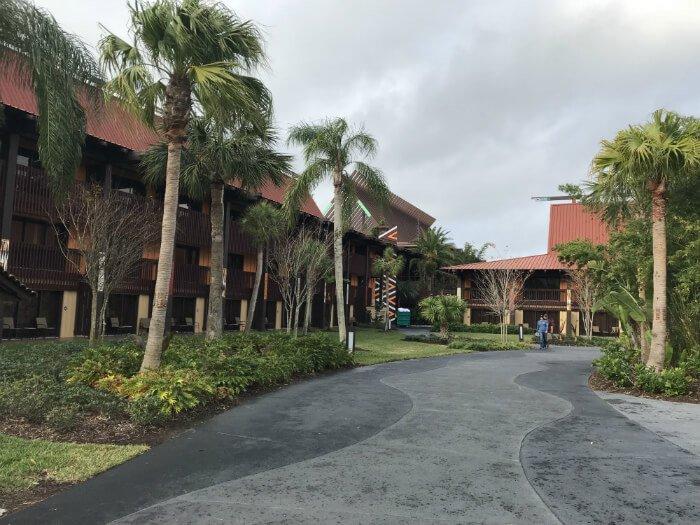 walkway at Polynesian Village Resort near villas
