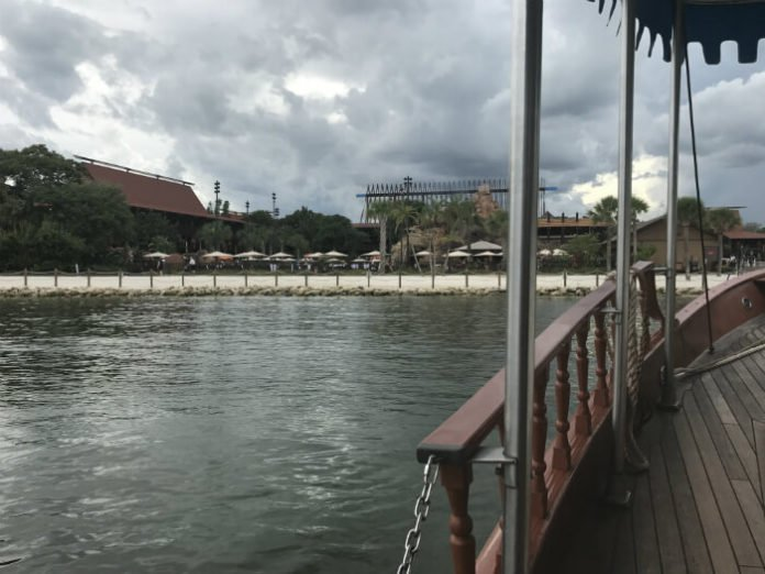 boat transportation at Disney's Polynesian Village Resort