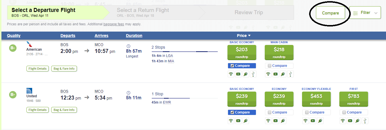 Cheapair Comparison how to choose a flight