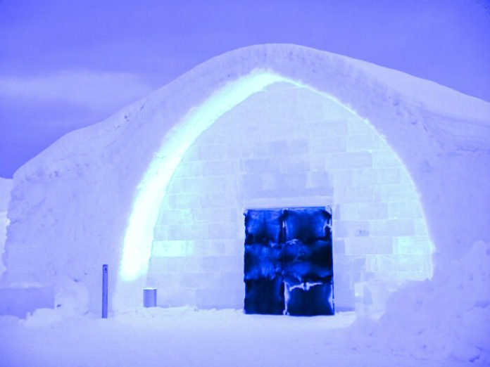 How to save money at Ice Hotel made of snow & ice blocks in Sweden Northern Europe