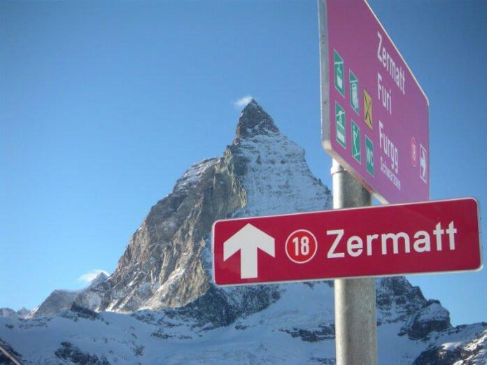 Top 10 Zermatt Switzerland ski-in ski-out hotels for snowboarding near Matterhorn