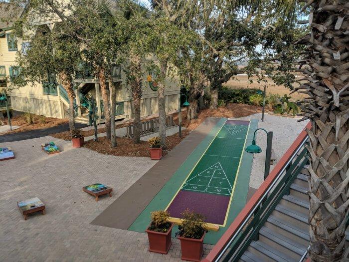 outdoor activities games bean bag toss Disney Hilton Head hotel resort