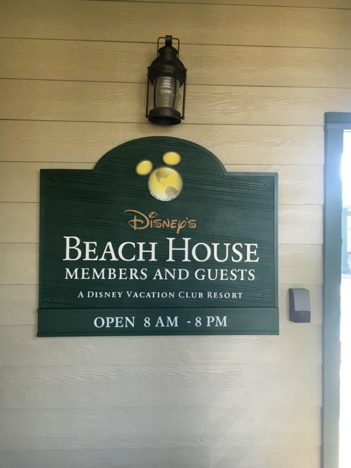 Disney's Beach House sign at Hilton Head Island resort
