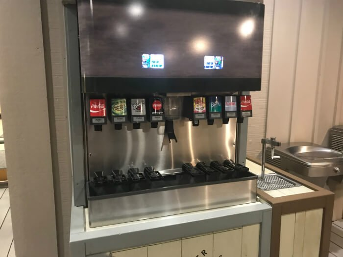 refillable mug station at Disney's Hilton Head Island Resort