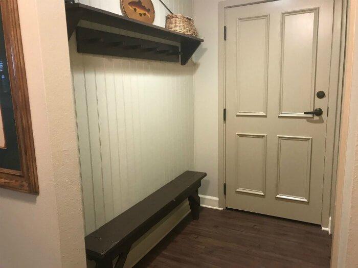 disney hilton head one bedroom villa bench, storage area