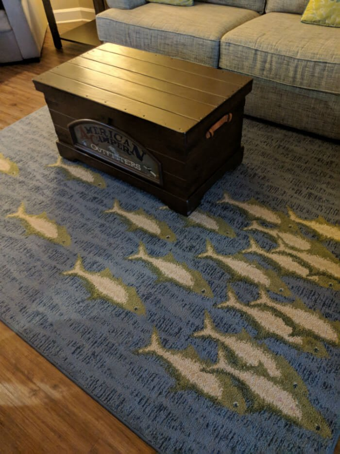 rug with fish in 1-bedroom villa at Disney's Hilton Head Island resort