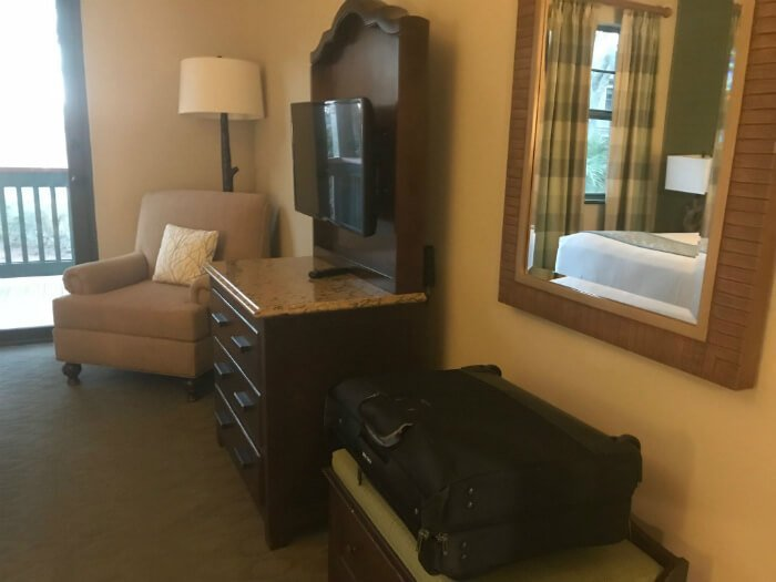 furniture in 1 Bedroom Villa at Disney's Hilton Head Island resort hotel