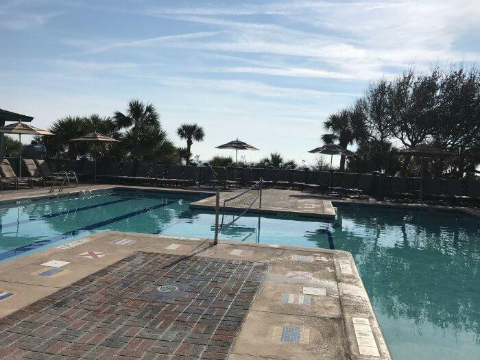 outdoor pool at beach house at disney hilton head island resort hotel