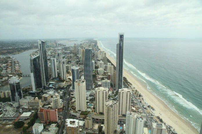 Surfers Paradise Cairns Queensland Australia Hilton hotel flash