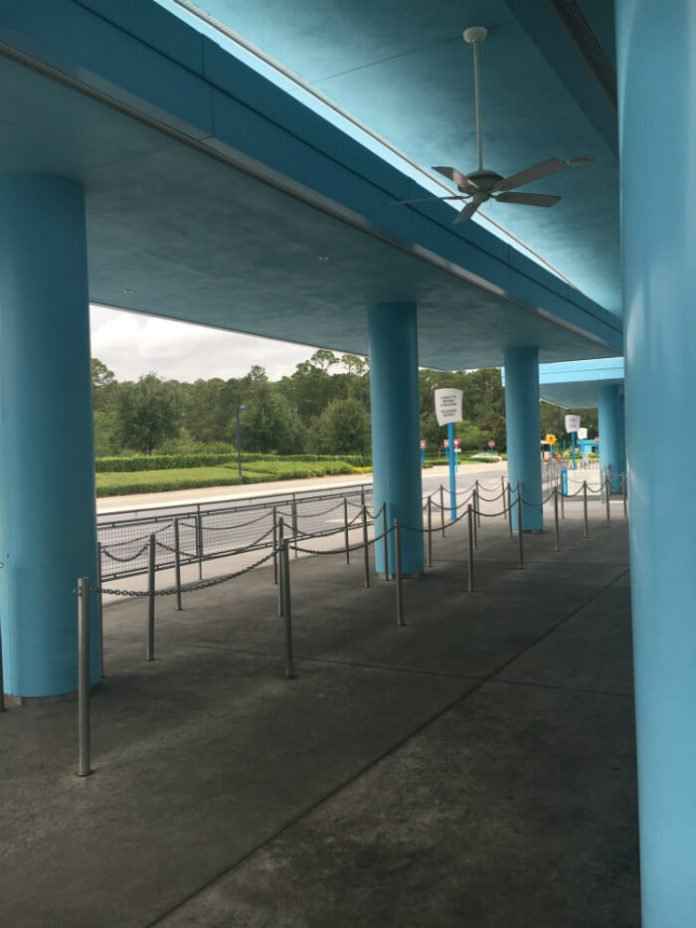 bus system at Disney's Art of Animation hotel