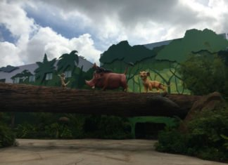 Lion King part of Art of Animation hotel Walt Disney World resort