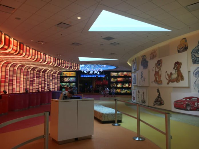 Art of Animation lobby family friendly decorations