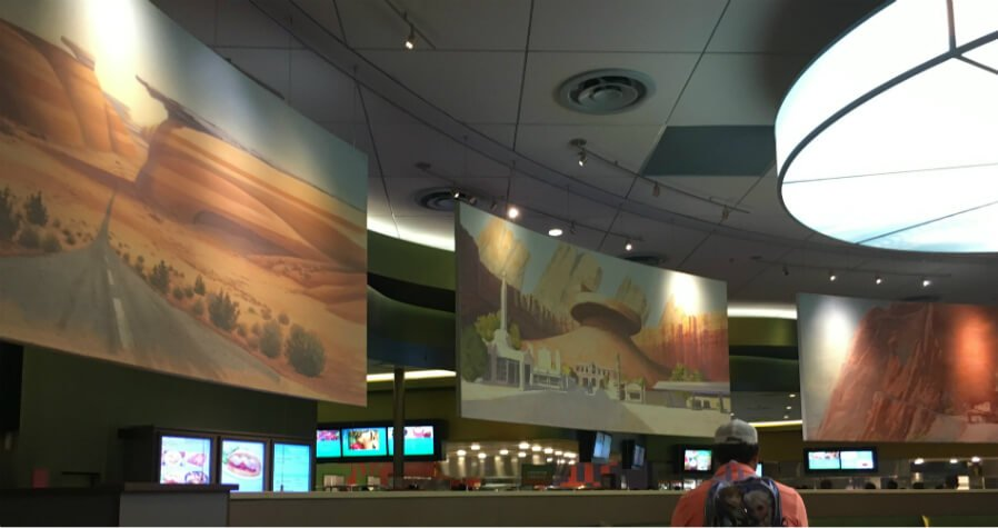 inside Disney's Art of Animation Landscape of Flavors food court