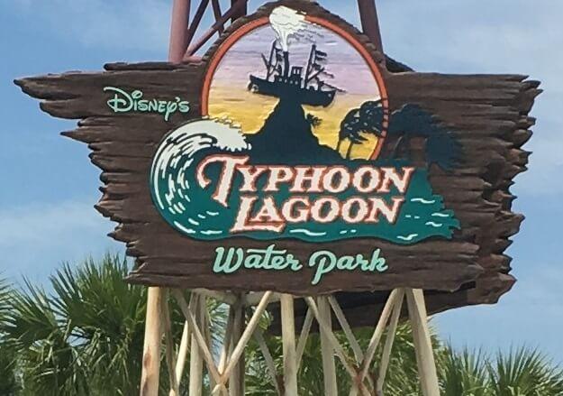 Disney's Typhoon Lagoon Water Park sign at Walt Disney World Orlando