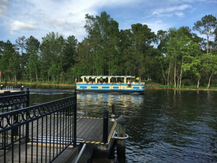 boat to Disney Springs from Disney's Port Orleans French Quarter hotel